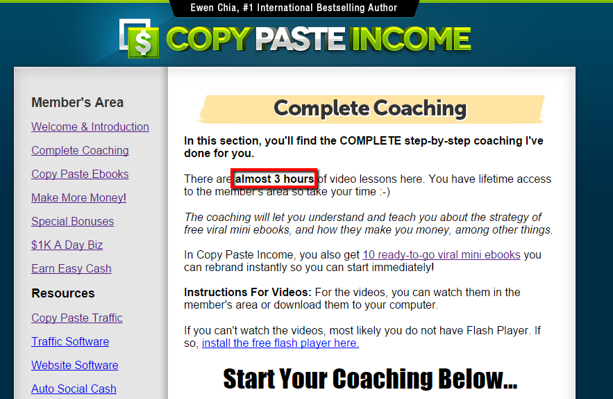 Copy Paste Income coaching